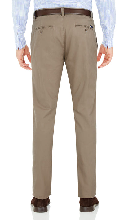 Bennett Cotton Chinos in Oak - Ron Bennett Menswear  - 2