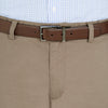 Bennett Cotton Chinos in Oak - Ron Bennett Menswear  - 3
