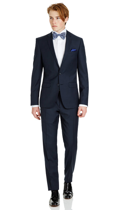 Blue Slim Fit Performance Suit for School Formals - Ron Bennett Menswear  - 2