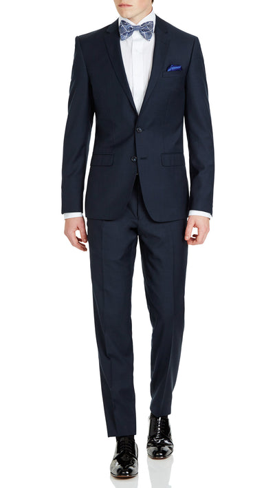 Blue Slim Fit Performance Suit for School Formals - Ron Bennett Menswear  - 1