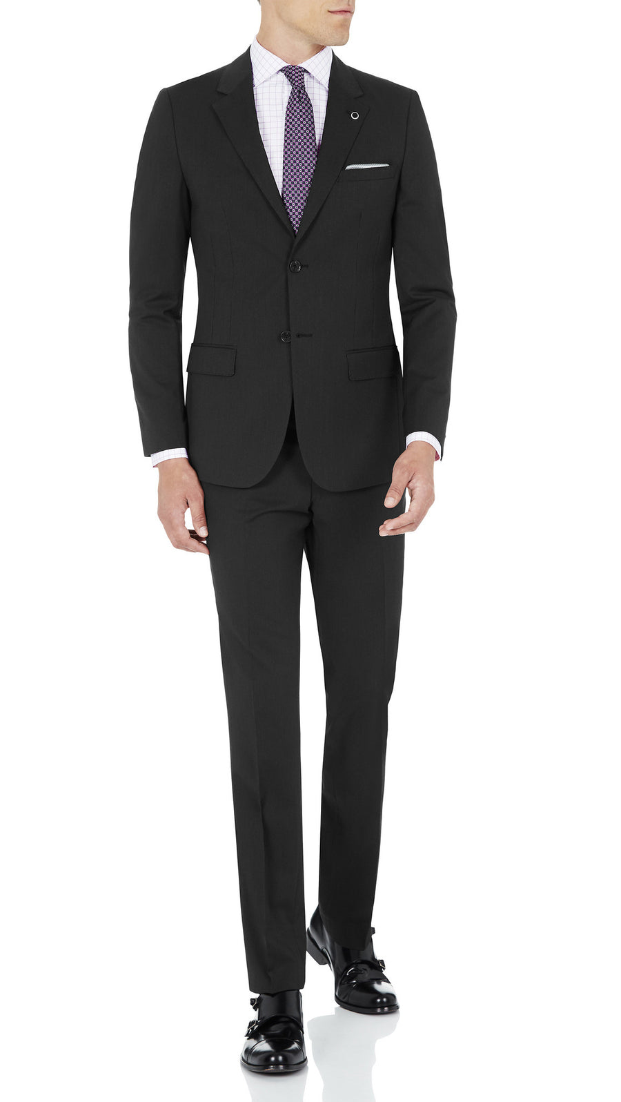Blackjacket Skinny Fit Suit in Charcoal grey - Ron Bennett Menswear  - 2