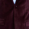 Blackjacket Italian Cotton Velvet Jacket for Formal wear in Burgundy - Ron Bennett Menswear  - 5