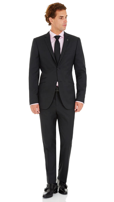Blackjacket Wool Suit in Dark Grey - Ron Bennett Menswear  - 2