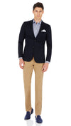 CEO half lined Stretch Jacket in Navy - Ron Bennett Menswear  - 2