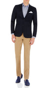 CEO half lined Stretch Jacket in Navy - Ron Bennett Menswear  - 1