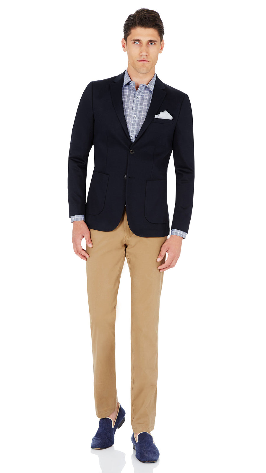 CEO half lined Stretch Jacket in Navy