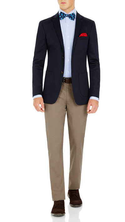 CEO half lined Stretch Jacket in Navy - Ron Bennett Menswear  - 5