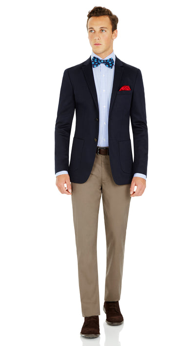 CEO half lined Stretch Jacket in Navy - Ron Bennett Menswear  - 8