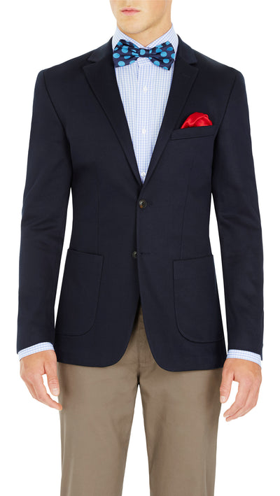 CEO half lined Stretch Jacket in Navy - Ron Bennett Menswear  - 6