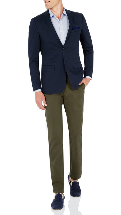 CEO Stretch Jacket in Blue - Ron Bennett Menswear  - 1