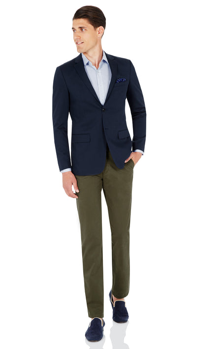 CEO Stretch Jacket in Blue - Ron Bennett Menswear  - 4