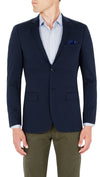 CEO Stretch Jacket in Blue - Ron Bennett Menswear  - 2