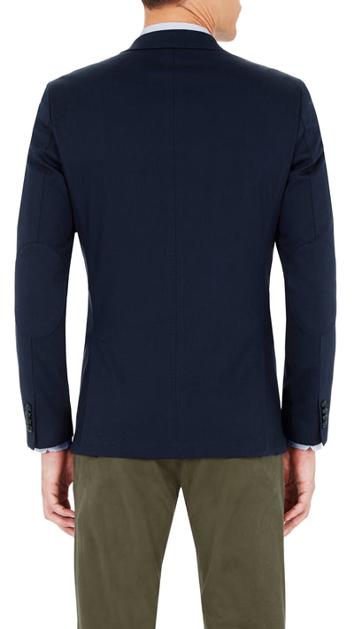CEO Stretch Jacket in Blue - Ron Bennett Menswear  - 3