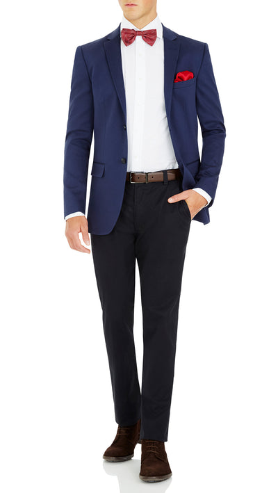 CEO Stretch Jacket in Blue - Ron Bennett Menswear  - 5