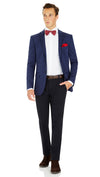 CEO Stretch Jacket in Blue - Ron Bennett Menswear  - 8