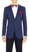 CEO Stretch Jacket in Blue - Ron Bennett Menswear  - 6
