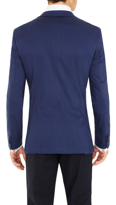 CEO Stretch Jacket in Blue - Ron Bennett Menswear  - 7