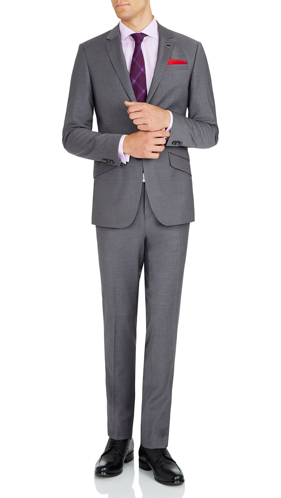 Blackjacket Skinny Fit Suit in Grey