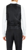 Formal Satin Vest in Black Paisley - Ron Bennett Menswear  - 2