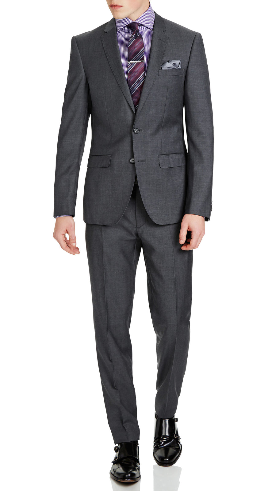 Trench Slim Fit Performance Suit in Dark Grey