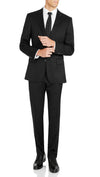 Nicholby & Harvard Slim Fit Suit in Black - Ron Bennett Menswear  - 1