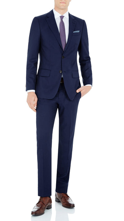 Daniel Hechter Pure Wool Suit in Blue
