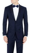 Bennett Signature Two Piece Dinner Suit in Blue - Ron Bennett Menswear  - 7