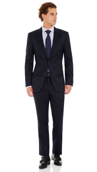 Nicholby & Hardvard Slim Fit Suit in Navy - Ron Bennett Menswear  - 2