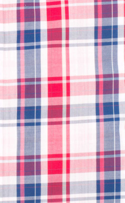Josiah Red/Navy Check Cotton Shirt