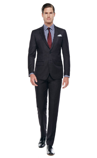Bell & Barnett Slim Fit Wool Suit in Charcoal - Ron Bennett Menswear  - 1