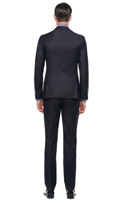Bell & Barnett Slim Fit Wool Suit in Charcoal - Ron Bennett Menswear  - 2