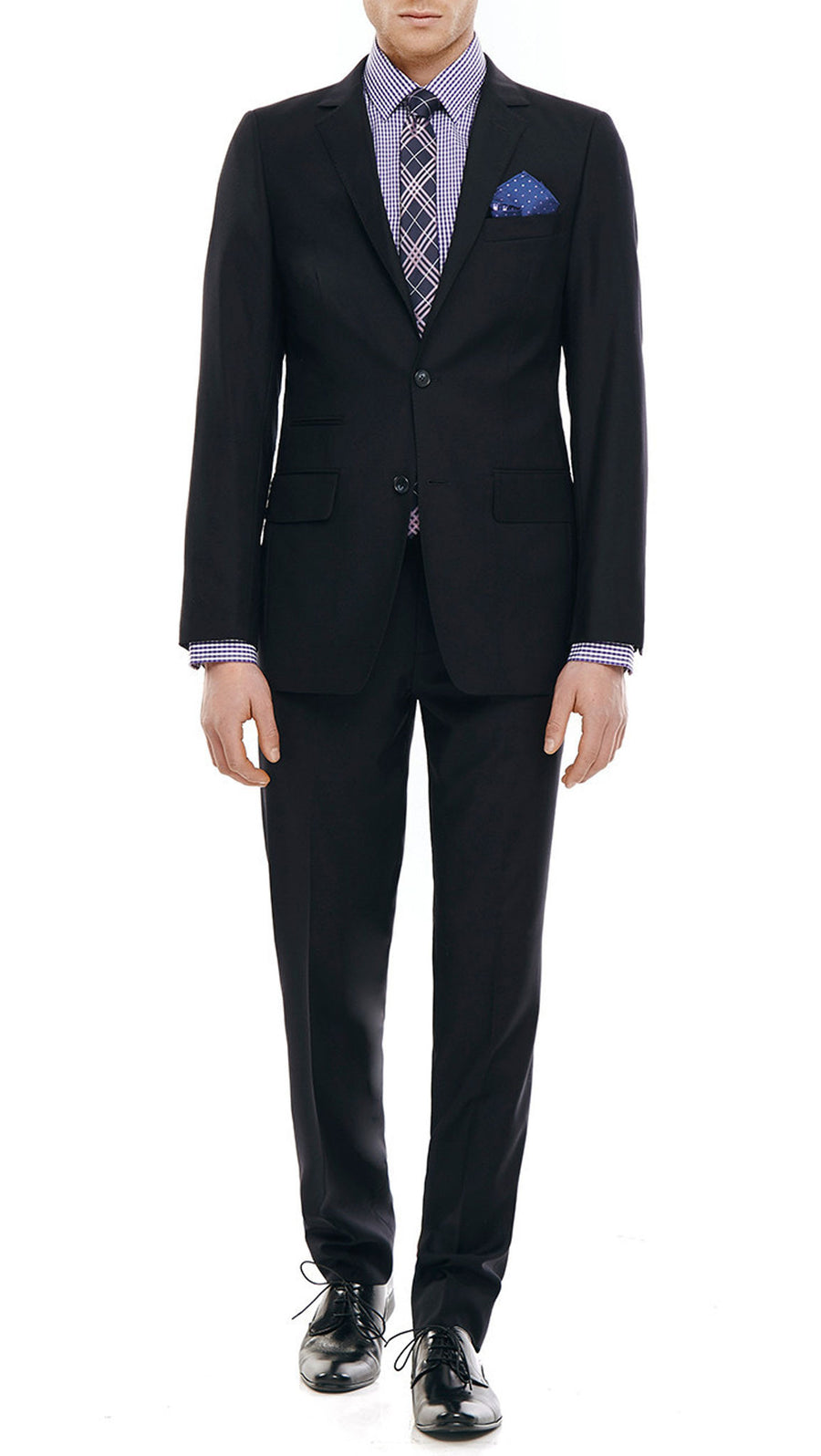 Bell & Barnett Slim Fit Wool Suit in Black