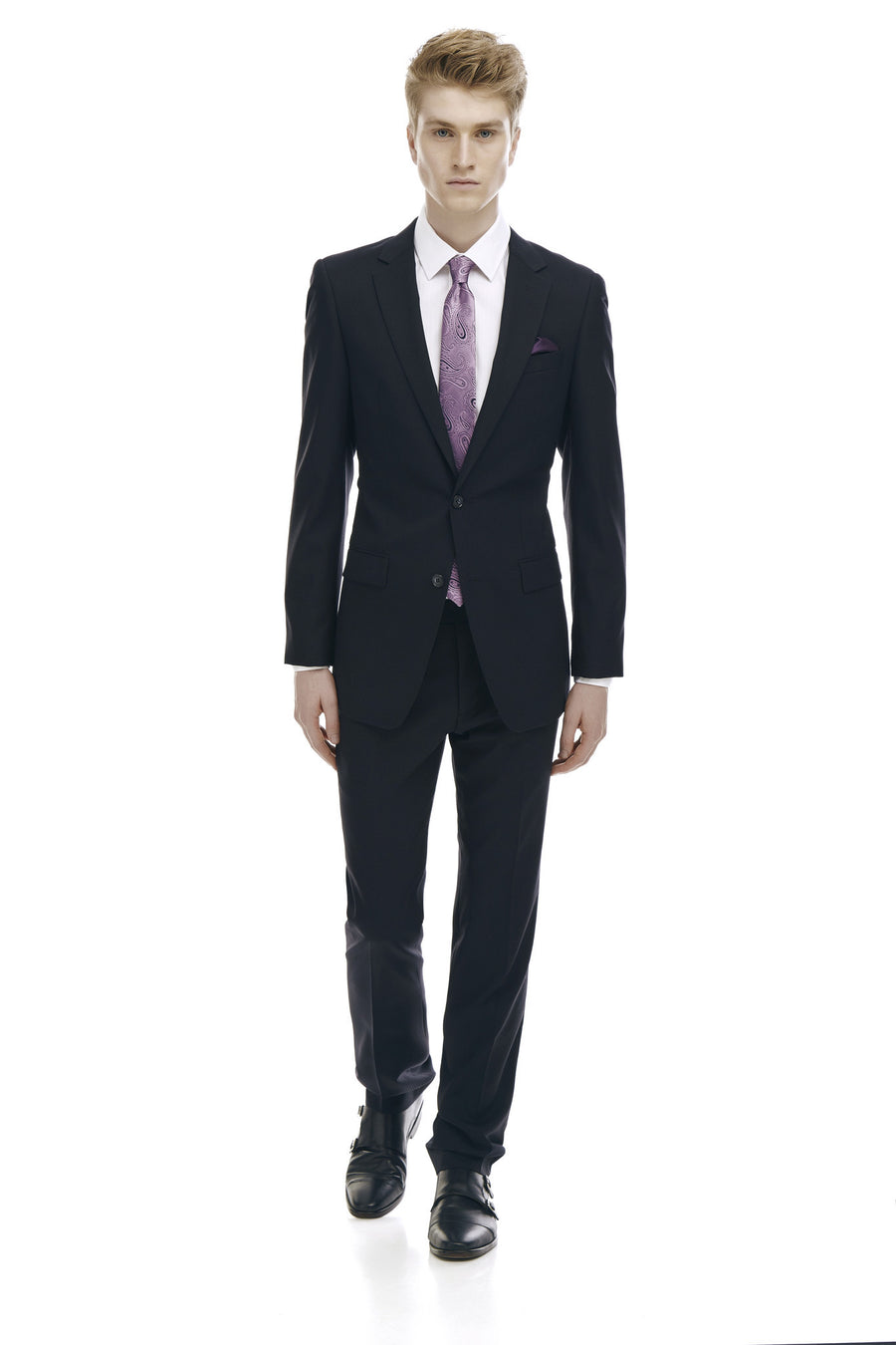 Claude Black Slim Fit Wool Rich Suit