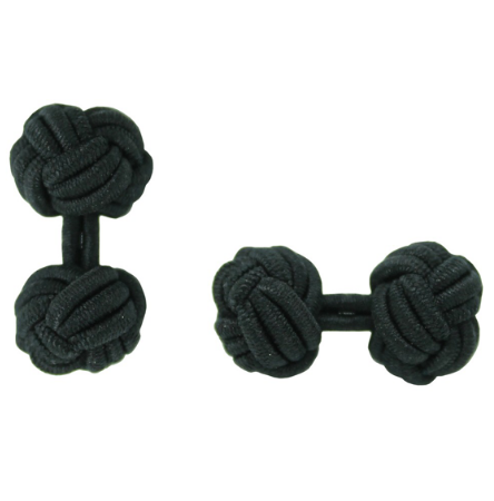 Personalised Silk Knots in Black for Groom and Groomsmen