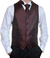 Formal Burgundy Swirl Vest