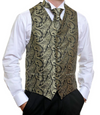 Formal Black Gold Paisley Vest
