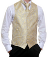Formal Silver Gold Paisley Vest