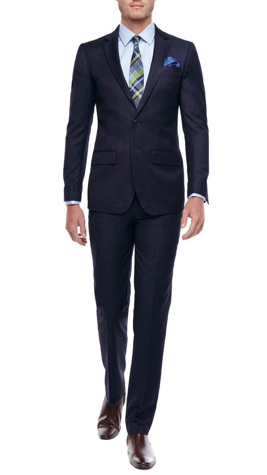 Bell & Barnett Slim Fit Wool Suit in Navy