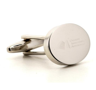 Personalised Silver Engraved Oval Cufflinks