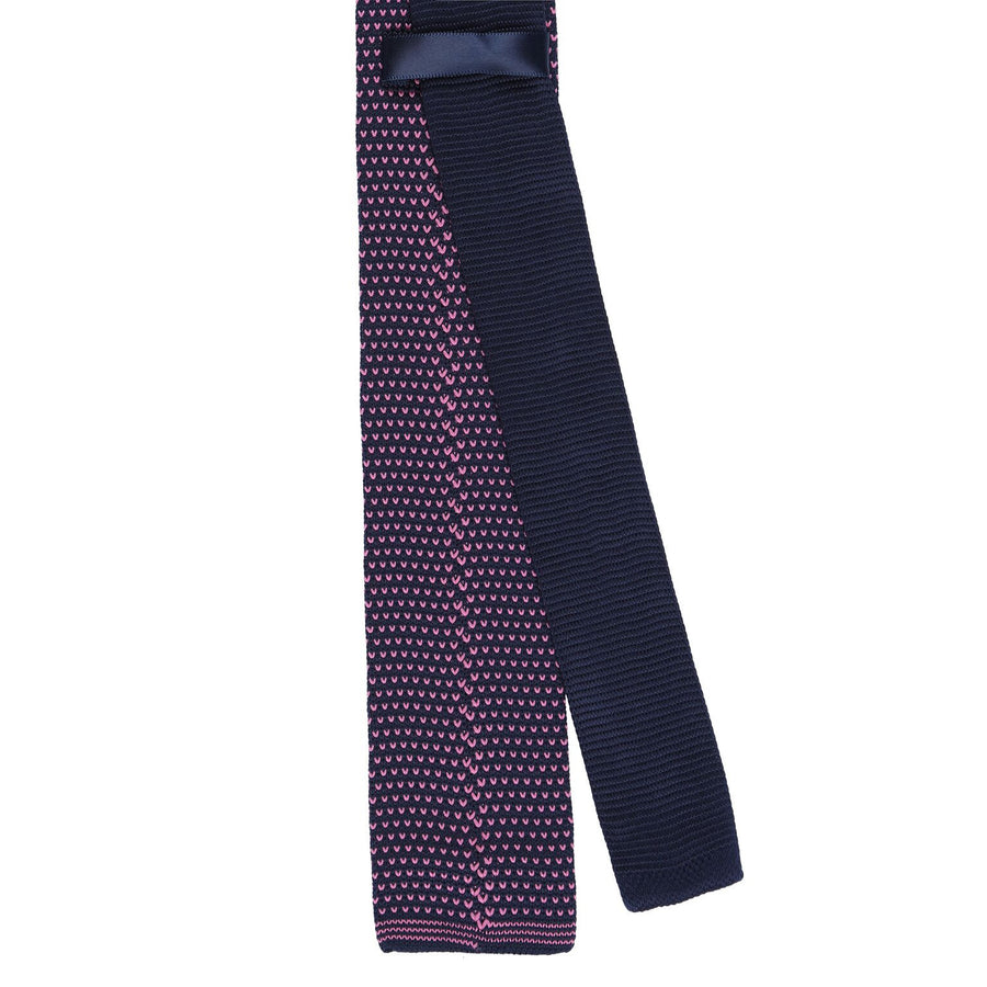 Stay Handsome Navy/Mauve Kitted Tie