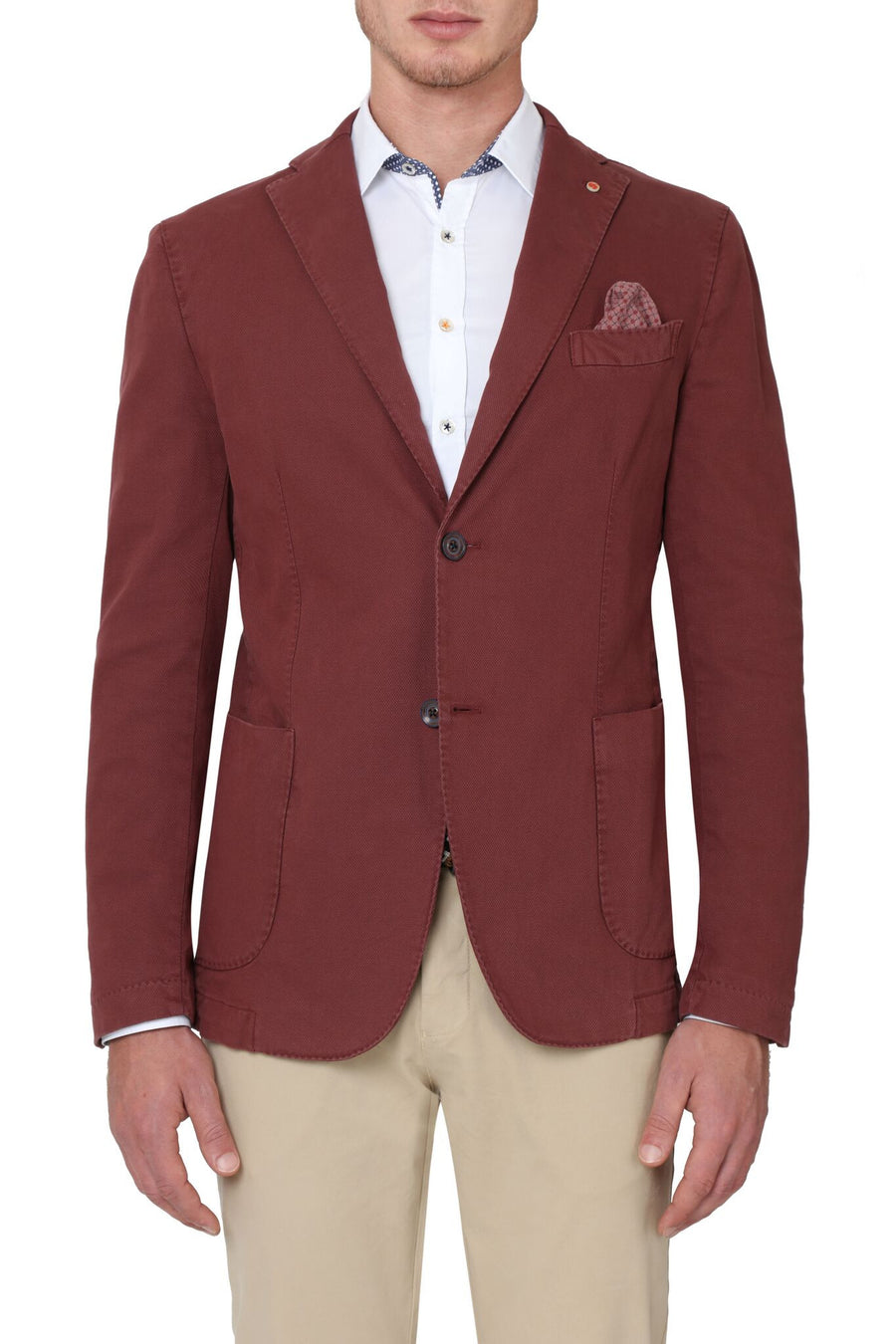 Jerry Key Cotton Sport Jacket in Bordeaux
