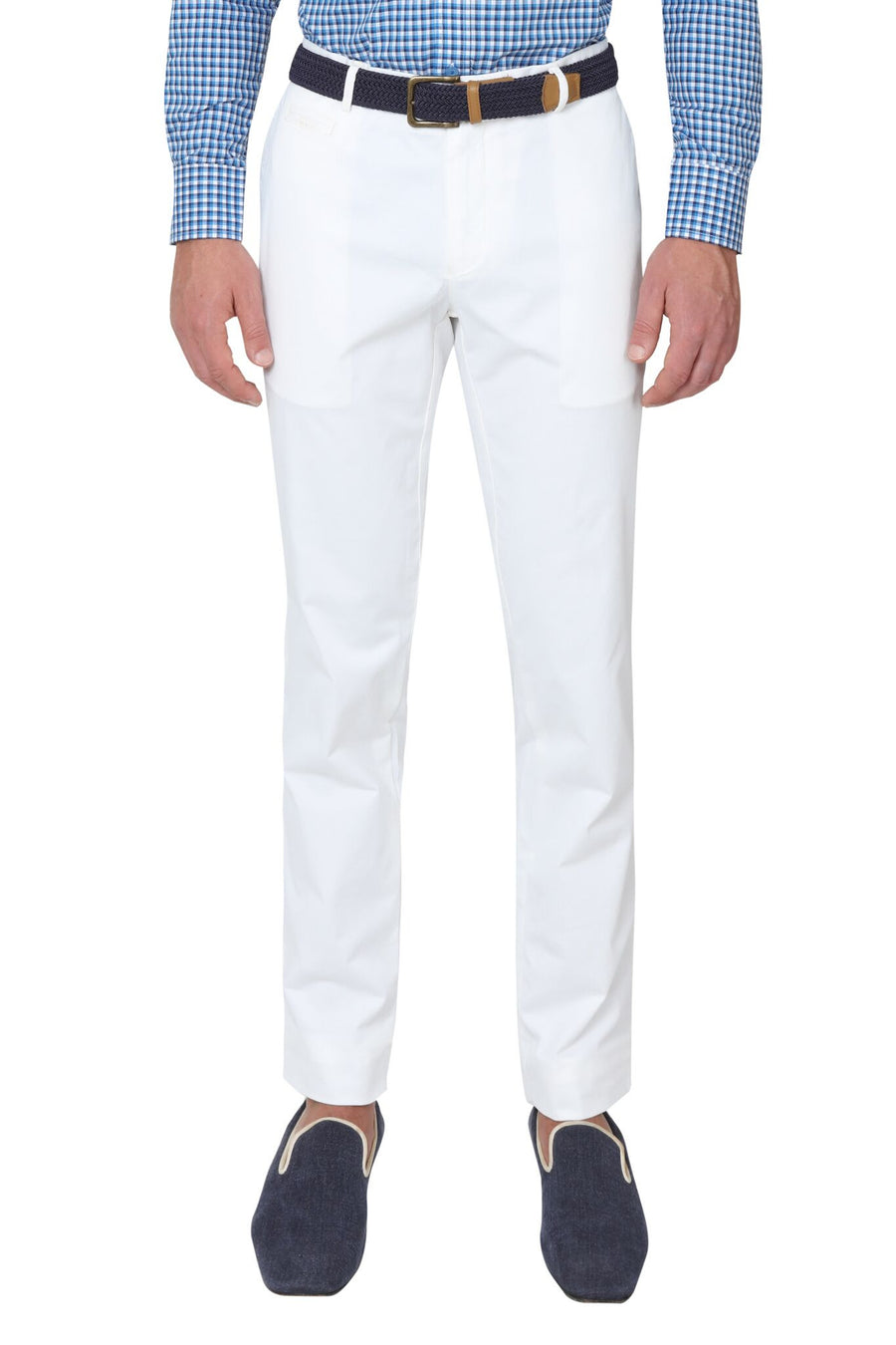Bennett Stretch Washed European Cotton Chino in White