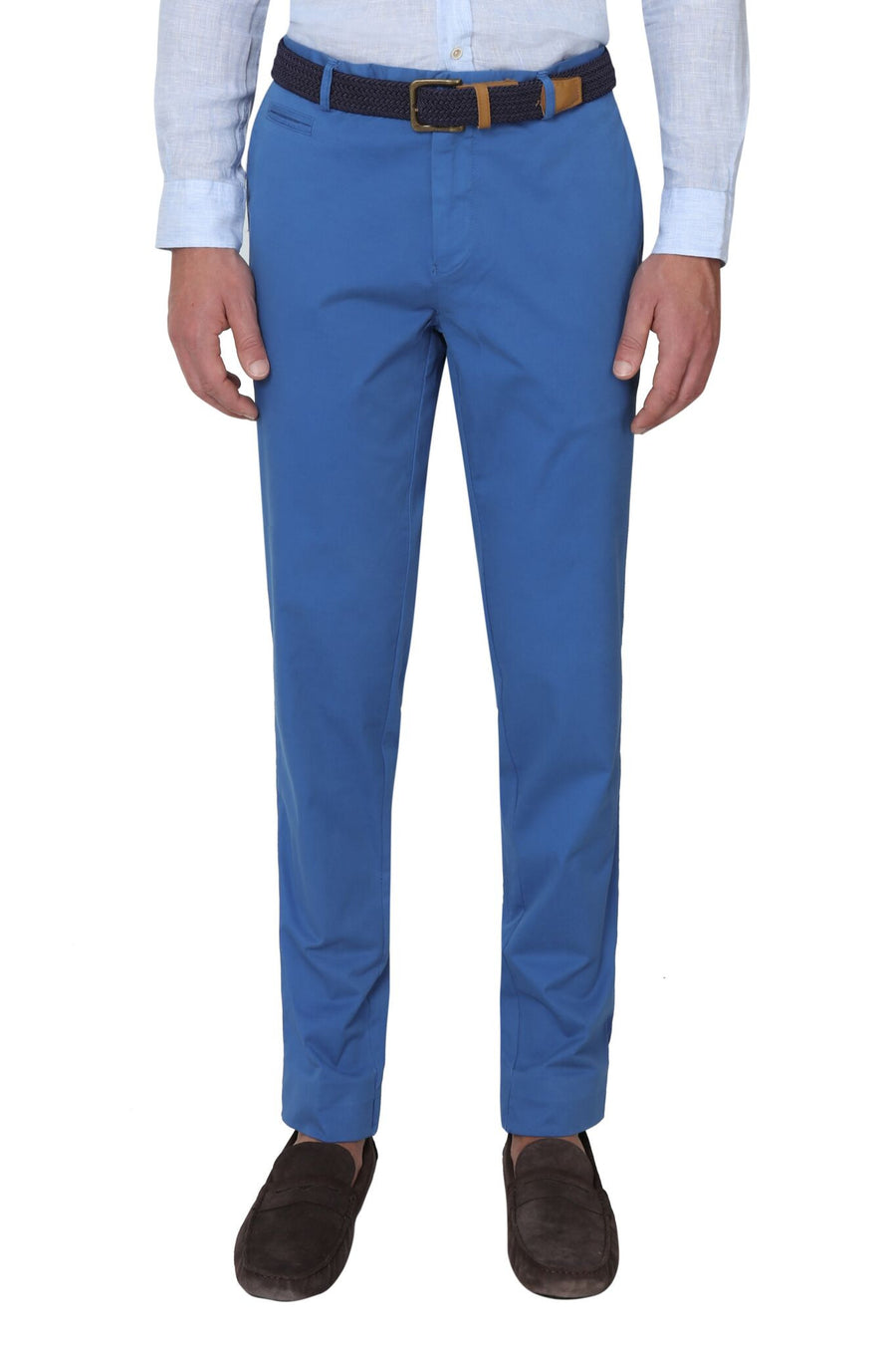 Bennett Stretch Washed European Cotton Chino in Ocean Blue