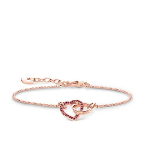 Thomas Sabo Rose Gold Together Heart Bracelet TA1648GAR