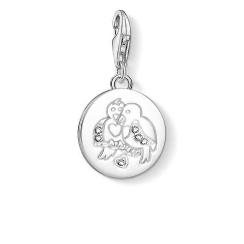 Thomas Sabo Charm Club Turtle Doves Disc Charm CC1388 - Lyncris Jewellers