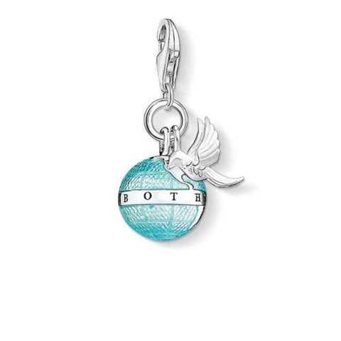 Thomas Sabo Charm Club Blue Globe With Dove Charm CC1349 - Lyncris Jewellers