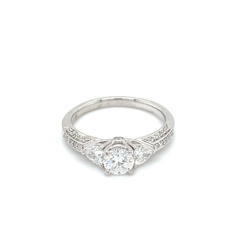 'DELILAH' 18ct White Gold Fancy Trilogy Diamond Ring LJ891