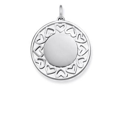 Thomas Sabo Sterling Silver Engravable Filigree Hearts Pendant TLBPE0013 - Lyncris Jewellers