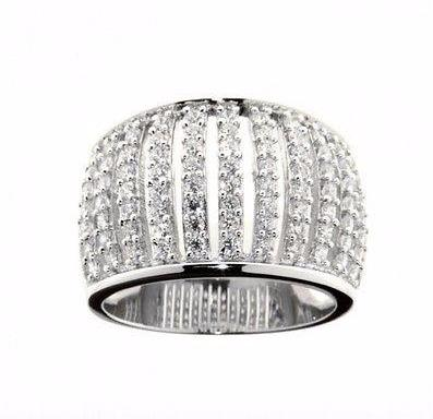Ellani Sterling Silver CZ Bars Ring - Lyncris Jewellers