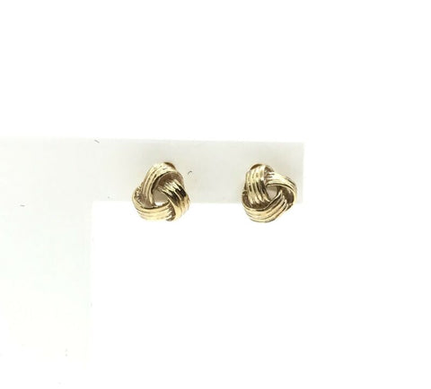 375 9ct Yellow Gold 6mm Knotted Stud Earrings - Lyncris Jewellers
